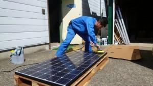 太陽光パネルの塩害によるリスク回避です