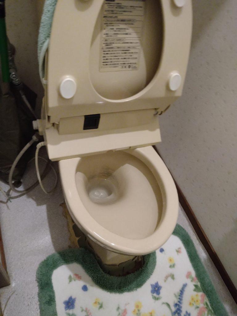 トイレが詰まっています